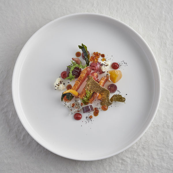 Hay Smoked Trout and Carrots web